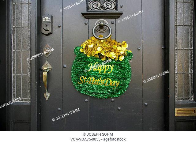Happy St. Pat's Day, St. Patrick's Day Parade, 2014, South Boston, Massachusetts, USA