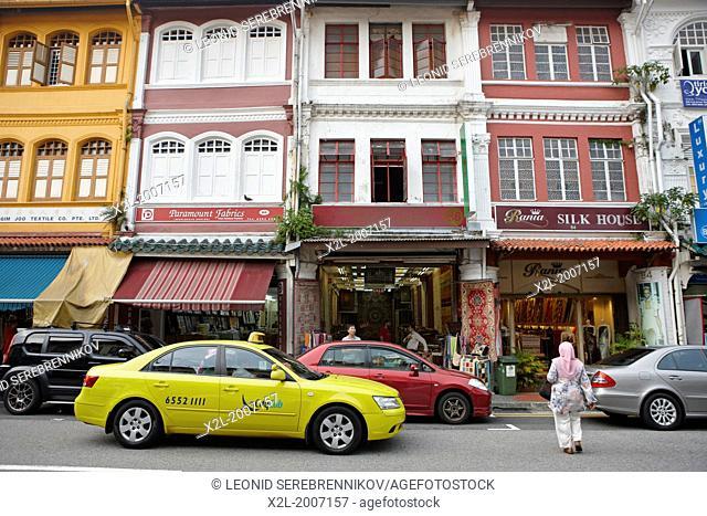 Traditional shophouses on Arab Street, Singapore