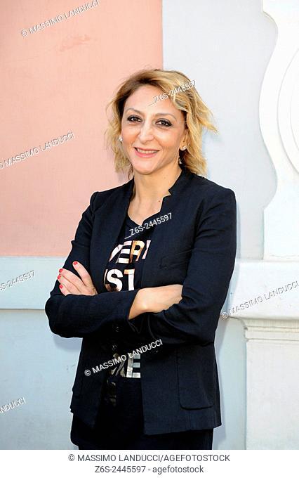 Paola Minaccioni; minaccioni; actress; celebrities; 2015; rome; italy; event; presentation theater season ; teatro Ambra Jovinelli