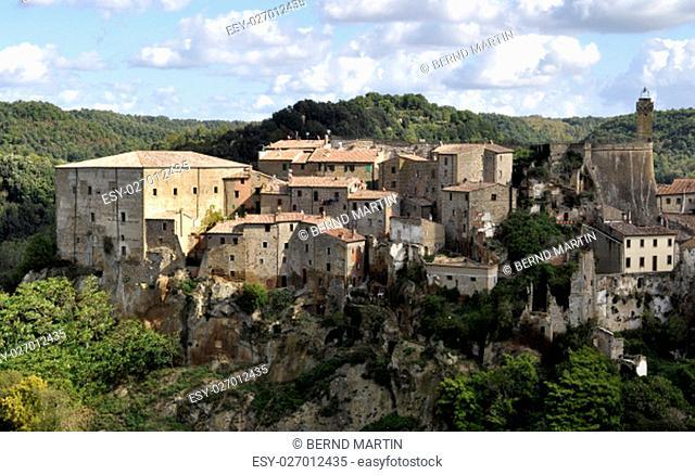 panorama of sorano, tuscany