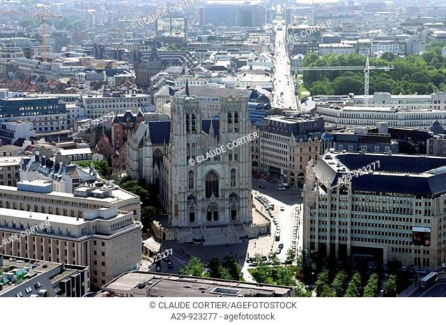 St Michael and Gudula cathedral, Brussels, Belgium