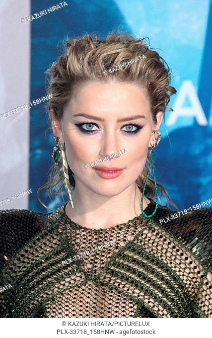"""Amber Heard 12/12/2018 """"""""Aquaman"""""""" Premiere held at the TCL Chinese Theatre in Hollywood, CA Photo by Kazuki Hirata / HNW / PictureLux"""