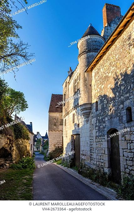 Porte-Bigot Street and House know as Logis de la Poterne at Crissay-sur-Manse, Labeled The Most Beautiful Villages of France