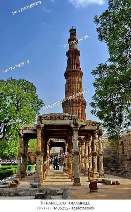 India, New Delhi, Qutub Minar,UNESCO world Heritage