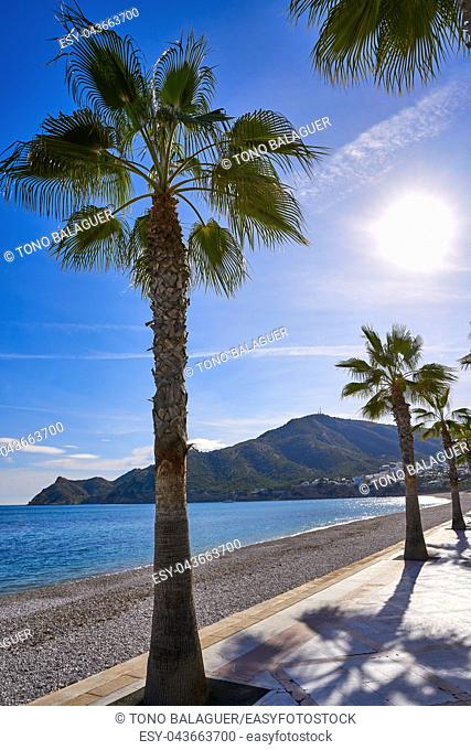 Altea Cap Blanc beach beside playa Albir of Alicante in Spain Costa Blanca
