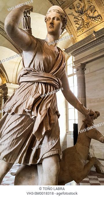 Diana of Versailles (Diana Huntress). Louvre Museum. Paris. France