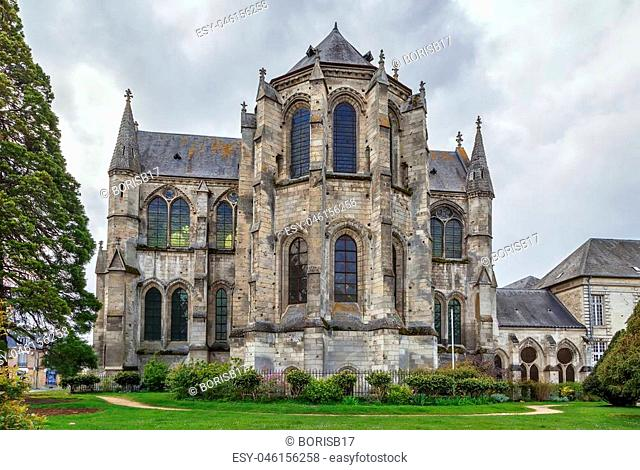 Church of former Abbey saint Leger, Soissons, France