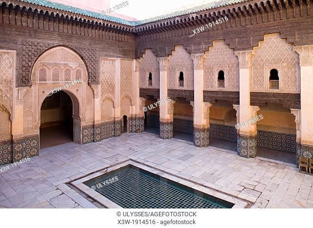 africa, morocco, marrakech, madrasa of ali ben youssef