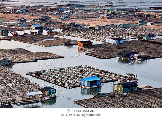 Floating village, Dong An, Fujian, China, Asia