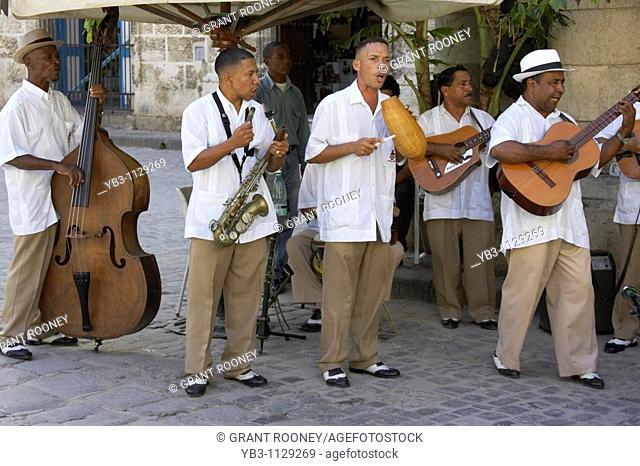 Street Musicians, Plaza de la Catedral, Havana, Cuba
