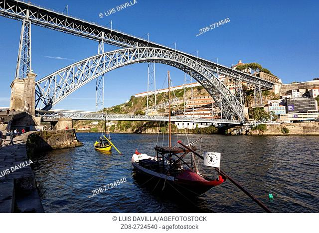 The Dom Luís I (or Luiz I) Bridge (Portuguese: Ponte Luís I or Luiz I) is a double-decked metal arch bridge that spans the Douro River between the cities of...