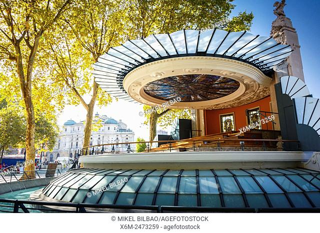 Arenal bandstand. Bilbao, Biscay, Spain, Europe