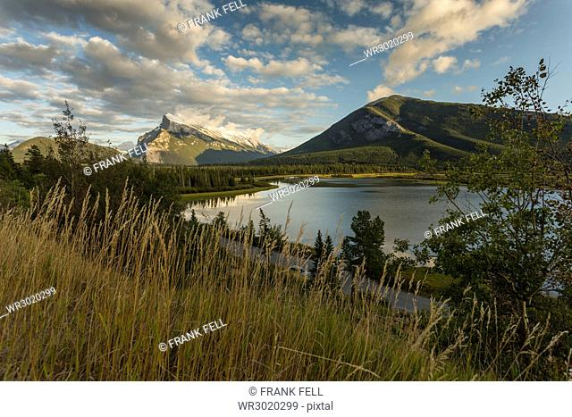 Gathering winter storm, Banff National Park, UNESCO World Heritage Site, Canadian Rockies, Alberta, Canada, North America