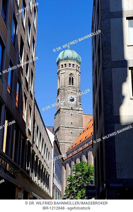 Northern tower, Dom zu Unserer Lieben Frau cathedral, church of Our Lady, Liebfrauenkirche, Munich, Upper Bavaria, Germany, Europe