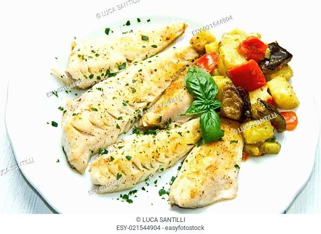 fish fillet with vegetables
