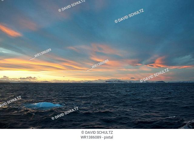 Sunset in the Weddell Sea