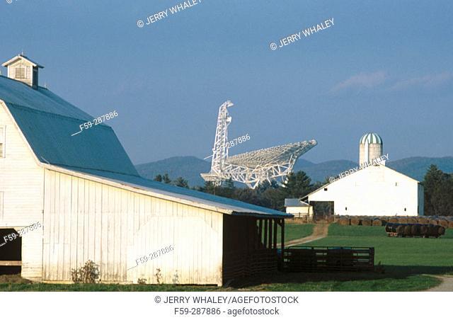 Radio-telescope. Greenbank. Monongahela National Forest. West Virginia. USA
