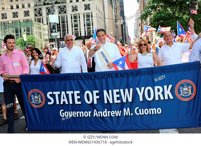 57th Annual Puerto Rican Day Parade 2014 Featuring: NY Governor Andrew Cuomo,Cesar Perales Where: New York City, New York