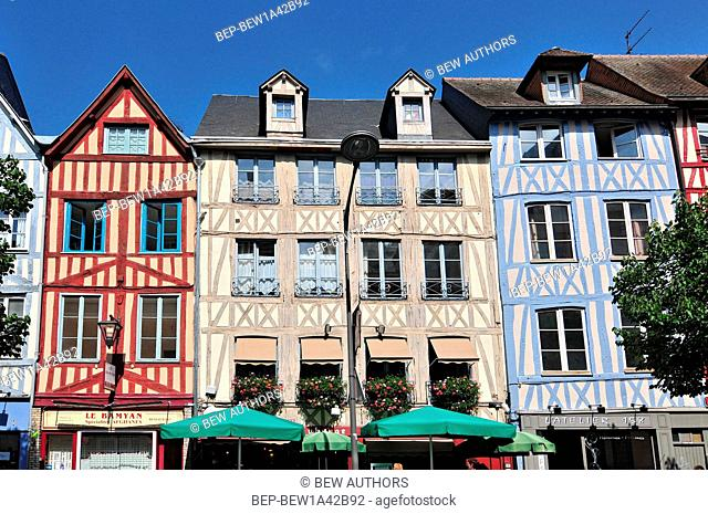 Half-Timbered Houses in Rouen Normandy France