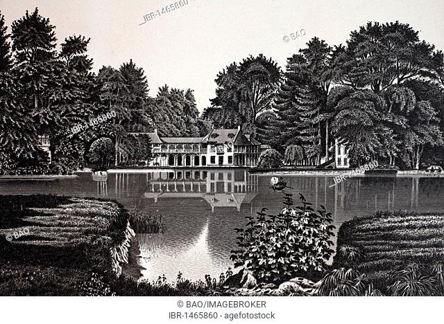 Petit Trianon, La Maison du Seigneur, historic copper-plate etching, from around 1890, Neal's, Paris, France, Europe