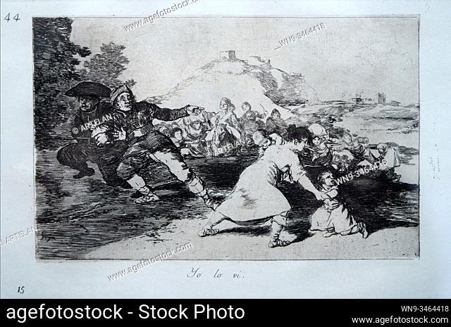 """""""Disaster 44. Yo lo ví. I Saw it"""", The Disasters of War, Francisco de Goya (1746-1828)"