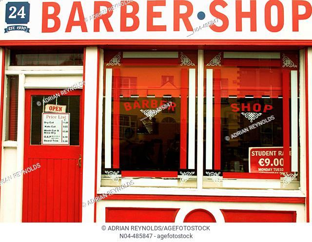 Barber shop, Dublin, Ireland