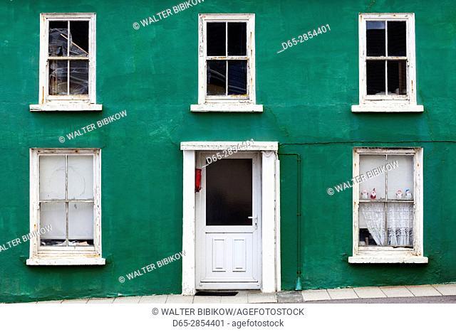 Ireland, County Cork, Beara Peninsula, Ring of Beara, Allihies, colorful building detail