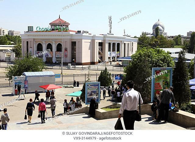 Tashkent, Uzbekistan - May 01, 2017: Chorsu plaza, one of the biggest, busiest and popular market place in the city