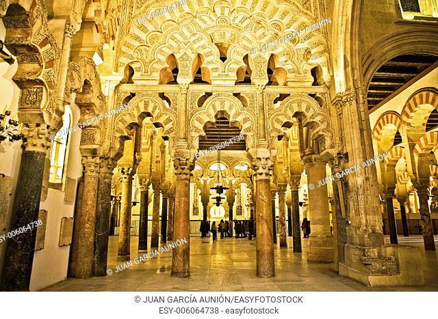 Villaviciosa chapel archs, Mosque of Cordoba, Spain
