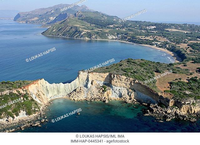 Aerial view of Gerakas. Zakynthos, Ionian Islands, Greece, Europe