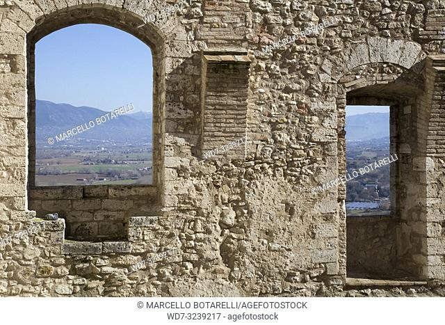 Landscape of the Narni Valley, near Terni, Umbria, Italy