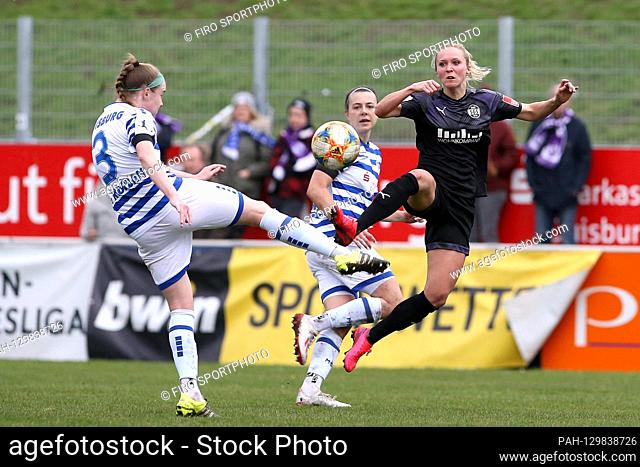 firo: 16.02.2020 Football, women FLYERALARM-Women-Bundesliga, season 2019/2020 MSV Duisburg - SGS Essen Claire O-Riordan (# 3
