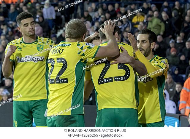 2019 EFL Championship Football WBA v Norwich City Jan 12th. 12th January 2019, The Hawthorns, West Bromwich, England; EFL Championship football