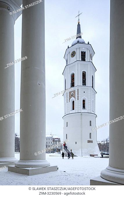 Winter day at Vilnius Cathedral, Lithuania