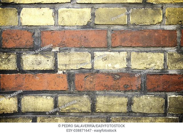 Background created with a old brick wall, Berlin, Germany