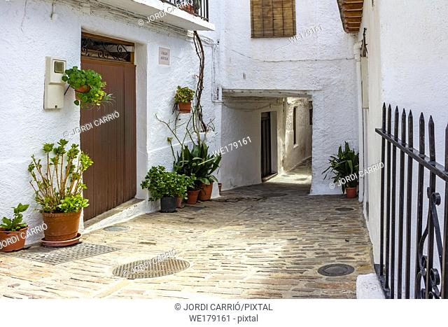 Pampaneira, Andalusia, Spain: View of one of the streets of Pampaneira with tunnels