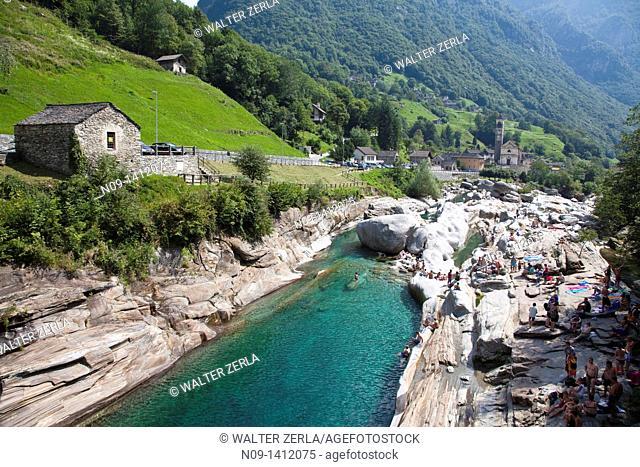 Lavertezzo, Valle Verzasca, Ticino, Switzerland