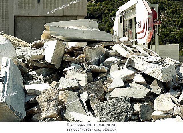 pile of stone waste