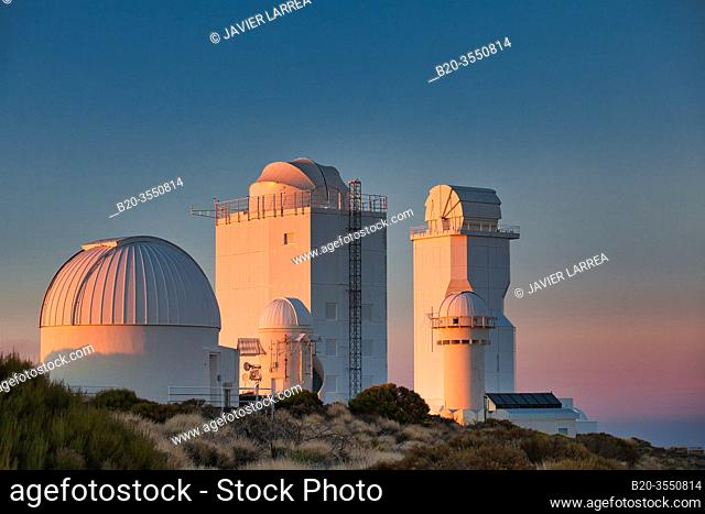 "Telescopes at the """"Observatorio del Teide"""" (OT), Astronomical Observatory, Las Cañadas del Teide National Park, Tenerife, Canary Islands, Spain"
