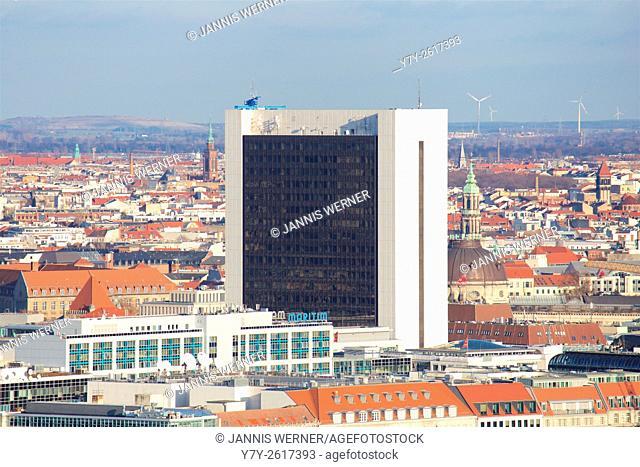 High rise office building Internationales Handelszentrum (IHZ) at Berlin-Friedrichstrasse