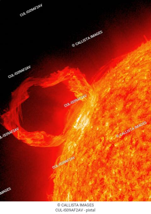 Photo of solar prominence