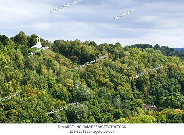 The Three Cross Hill. Vilnius, Vilnius County, Lithuania, Baltic states, Europe