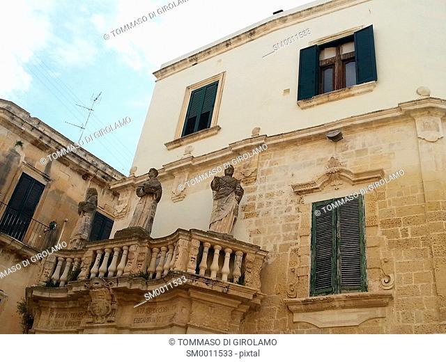Lecce, Italy, Baroque art in duomo square