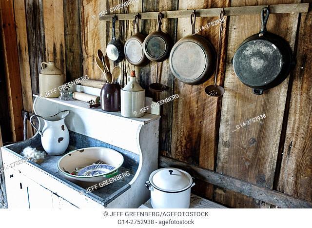 Florida, Palm Coast, Florida Agricultural Museum, living history museum, farm homestead, Depression Era, restored, kitchen