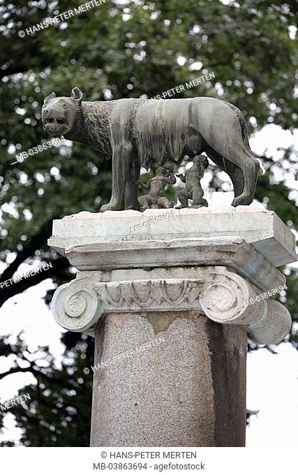 Italy, Rome, Capitol, piazza Del Campidoglio, Kapitolinische Wölfin