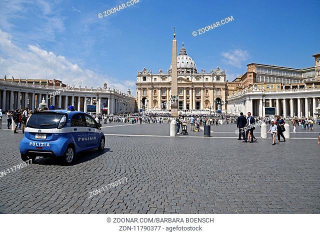 St. Peter's Basilica, St. Peter's Square, Rome, Italy, Europe, Petersplatz, Petersdom, Rom, Italien, Europa