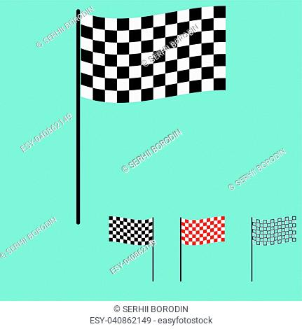 The racing flag black and white colour