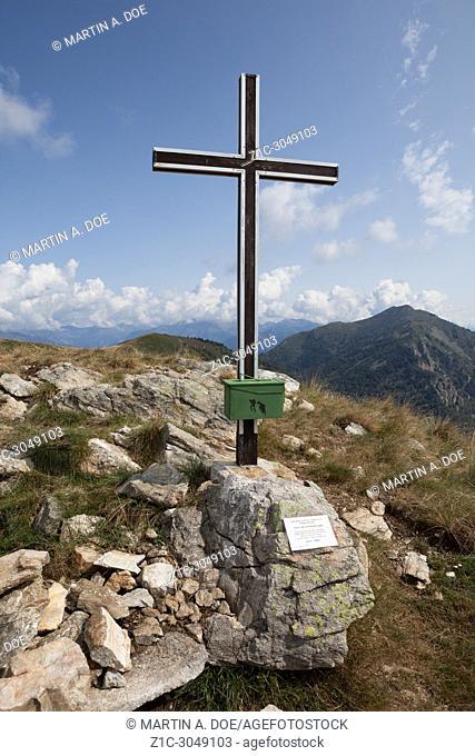 The peak of Sasso Corbaro. Veddasca, Italy