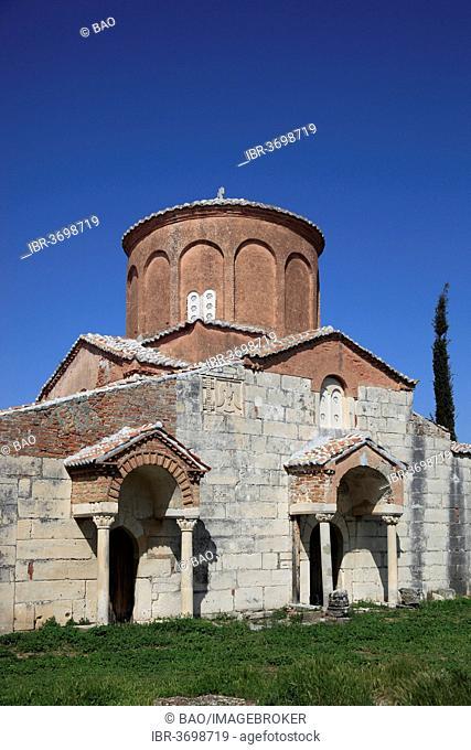 Byzantine Mother of God Church in the Shen Meri monastery, built about 1250, ruins of Apollonia, Apoloni, Apollonia, Fier County, Albania