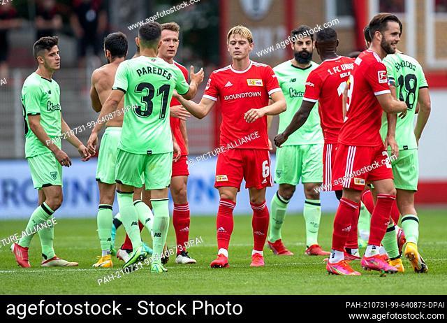 31 July 2021, Berlin: Football: Test matches, 1. FC Union Berlin - Athletic Bilbao, Stadion An der Alten Försterei. Athletic Bilbao's Aitor Paredes (2